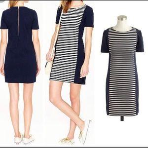 J. Creww Navy and white stripe dress